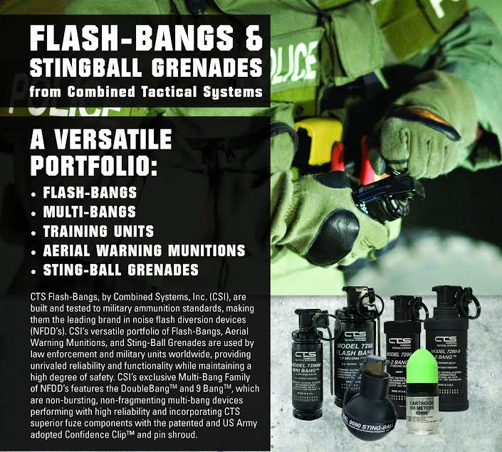 flash bangs, less lethal munitions, police equipment, 40mm munitions, CTS, combined tactical systems, tactical & energetic solutions, michigan police supply, saint clair shores mi